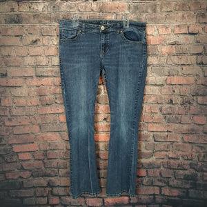 Apt. 9 Womens Jeans Size 14 Boot Cut Low Rise Blue